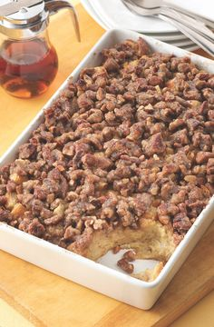 Praline French Toast Bake Recipe from Land O'Lakes-Photography By Tony Kubat Brunch Recipes, Breakfast Recipes, Breakfast Ideas, Brunch Dishes, Brunch Ideas, Fall Recipes, Breakfast Cookie Recipe, Breakfast Casserole, Second Harvest Food Bank