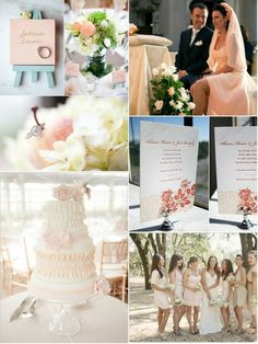 wedding color blush peach