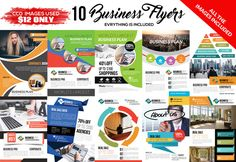 10 Corporate Flyers Template Bundle by Psd Templates on @creativemarket