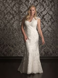 Slimline plus size dress by Allure Bridals: Style: W315