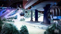 макет горнолыжного курорта #макет #макеты #макетная_мастерская #изготовление_макетов #изготовить_макет