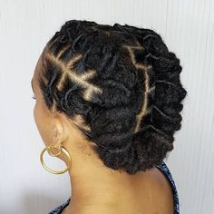 Beautiful & Simple Short Dread styles for females Dreads Styles For Women, Short Dread Styles, Medium Hair Styles, Natural Hair Styles, Long Hair Styles, Natural Hair Accessories, Natural Hair Twists, Natural Hair Updo, Wedding Hair Accessories