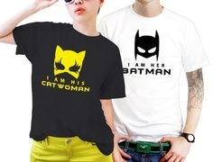 Superhero Catwoman And Batman Couples Matching Shirts, Couples T Shirts, Funny Couple Shirts