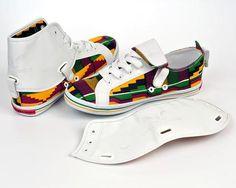 Kente Hi Top Sneakers-Oh! Nana Accra - OHEMA OHENE AFRICAN INSPIRED FASHION  - 2