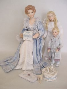 GOOD TIMES: May - Time For Mother's Day Morning (Dollshouse dolls by Debbie Dixon-Paver)