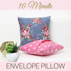 Have you got some tired cushions that are in desperate need of a make-over? Learn how to make cushion covers with an envelope back in under 10 minutes.