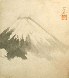 Antique Japan Shikishi Art – Mt Fuji Sumi-e Calligraphy | Japan Antique Roadshow