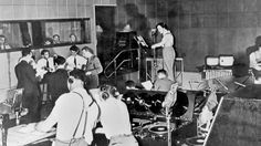 In the studio with Orson Welles during the October 30, 1938 live broadcast of War of the Worlds on CBS radio.