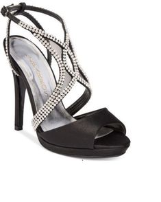 eac2e82d403 Womens T-Strap Evening Sandals Black Satin 10M NIB  fashion  clothing  shoes