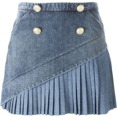 Nº21 Denim Mini Skirt ($389) ❤ liked on Polyvore featuring skirts, mini skirts, bottoms, faldas, blue, blue skirt, denim miniskirt, denim skirt, blue denim skirt and short skirts