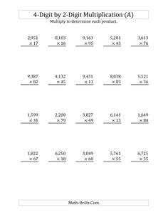 3 Digit by 3 Digit Multiplication Worksheet -#3 | Math worksheets ...