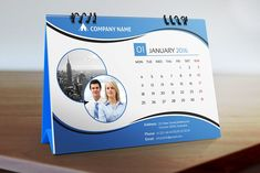Desk Calendar 2016 by Pixelpick on Creative Market Desk Calender, Table Calendar, Calendar Calendar, Calendar Ideas, Ad Company, Company Names, Business Card Mock Up, Business Brochure, Stationery Templates