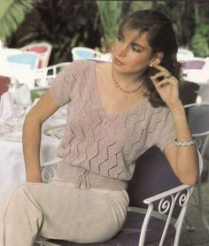 Knitted Top Knitted Top Pattern Instant by McPhersonStVintage
