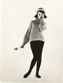 Grace Coddington's first model card, 1959. Photograph: Grace: A Memoir