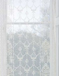 Ailsa is a very delicate Victorian Cotton Lace Curtain design from Scotland.  Pricing starts at $69.95 per panel.