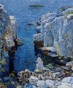 The Isle of Shoals 1912 by American Impressionist Childe Hassam.