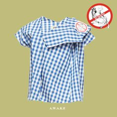 Smoking kills! Shop @awake_uk blue and white #gingham top  Shop online: http://n-duo-concept.com/clothing/gingham-short-sleeve-top.html#.Vx3EPvl96Hs
