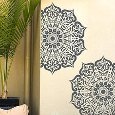 MANALI Mandala Indian Circular Stencil - Furniture Wall Floor Stencil for Painting (18 cm) -- See this great product. (This is an affiliate link) #HomeDcorAccents