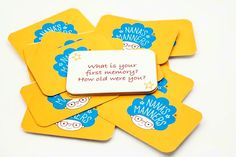 I love creating memories with family and friends. What is your first memory? And how old were you? My conversation cards are free with every pre-ordered set of children's cutlery on Indiegogo bit.ly/childrenscutlery. #crowdfunding #indiegogo #conversation #cards #mealtimes