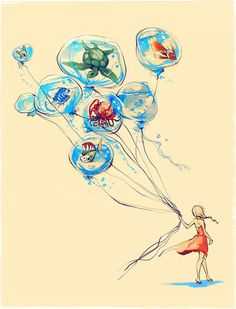 Water Balloons by Alice X. Zhang - Today is World Water Day, Thursday, March 22, 2012.  Check out my Water Issues board @Sassafras on Pinterest.