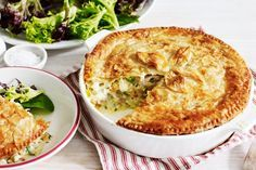 Try this hearty chicken pie the whole family will enjoy! Created by Michael Weldon, MasterChef Australia Series 3 contestant. Pie Recipes, Chicken Recipes, Dairy Recipes, Recipies, Pesto, Tapas, Masterchef Recipes, Cooking Tips, Cooking Recipes