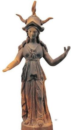 Terracotta statuette of Athena - from 2nd century BCE, now in Pella Museum