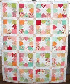 Scrumptious Large Lap Quilt Twin Coverlet 60 x 74 by warmnfuzzies, $285.00