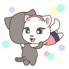 Cute Love Gif, Cute Love Pictures, Gif Pictures, Cartoon Gifs, Cartoon Drawings, Cartoon Art, Cute Cartoon Girl, Cute Love Cartoons, Emoticon Love