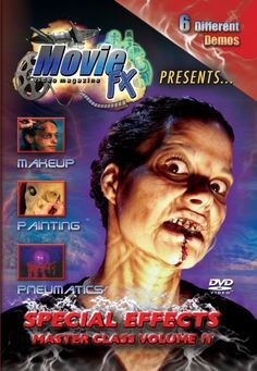 Movie FX Master Class Volume 2 DVD - Instructional DVDs taught by professionals in the special effects industry. Each DVD is over 3 hours running time. Multiple lessons and demos, perfect for beginners and advanced students alike.
