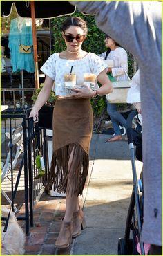Vanessa Hudgens Spends Sunny Spring Day With Dog Darla