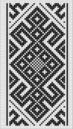 This Pin was discovered by Hel Tapestry Crochet Patterns, Crochet Motifs, Bead Loom Patterns, Fair Isle Knitting Patterns, Knitting Charts, Weaving Patterns, Knitting Stitches, Mosaic Patterns, Inkle Weaving