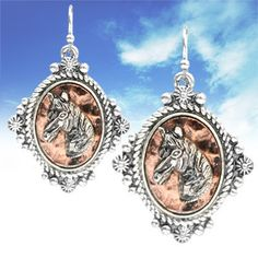 Western Cameo Horse Earrings – Cowgirl Country Bridesmaids