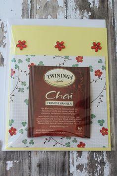 Tea Bag Card by AllOnAHeartstring on Etsy