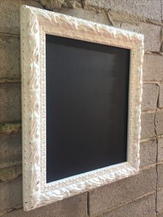 Ornate white framed chalkboard  Perfect for your drinks menu, wishing well sign, guest book sign or sharing a little quote.  Matching Rectangular chalk board also available.   For Hire in Melbourne    Also find us on instagram @thesmallthingsco