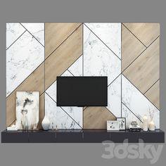 models: Other - TV shelf 08 Tv Unit Furniture Design, Tv Unit Interior Design, Showroom Interior Design, Tv Unit Design, Interior Modern, Apartment Interior, Tv Wall Decor, Wall Decor Design, Bedroom Built In Wardrobe