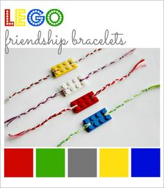 LEGO Friendship Bracelets - Make this simple jewelry craft for your favorit kid (or childlike adult)