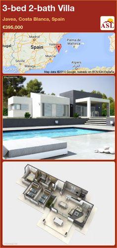 3-bed 2-bath Villa in Javea, Costa Blanca, Spain ►€395,000 #PropertyForSaleInSpain