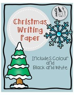 Winter Story Paper by Voil.Perfect for literacy centres or story writing. Includes 26 pages in colour and black and white. Christmas Writing, Christmas Crafts, Christmas Things, Free Christmas Printables, Literacy Centers, Writing Papers, Activities, Black And White, Holiday