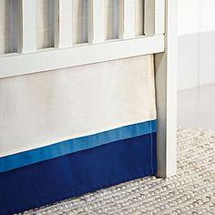 Layered crib skirt    James Collection | Serena & Lily