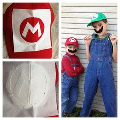 DIY Mario and Luigi Costumes by Maker Mama, via Flickr