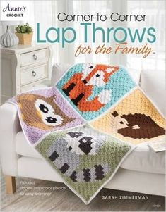 I Wrote a Crochet Book! Corner-to-Corner Lap Throws for the Family - Repeat Crafter Me Mehr Annie's Crochet, Crochet Books, Crochet Granny, Baby Blanket Crochet, Crochet Blankets, Crochet Stitch, Crochet Crowd, Crochet Ideas, Pixel Crochet
