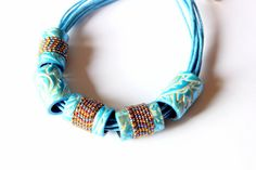 Bohemian Blue necklace blue tribal necklace by ColoritaJewelry
