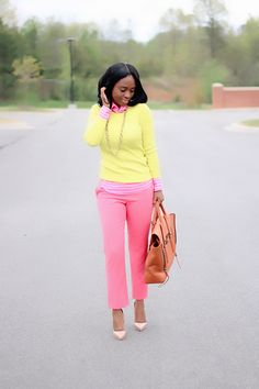 Pink and yellow outfit