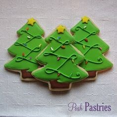Christmas tree cookies, our sugar cookies aren't near so perfect, but taste just as good