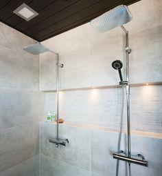 Kalajoen asuntomessut Smart Oras Optima rain shower faucets at Kalajoki Fair. Left: Model Oras right: Oras 7192 Rustic Master Bathroom, Rain Shower, Oras, Beautiful Bathrooms, Track Lighting, Faucet, Toilet, Bathtub, Ceiling Lights