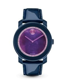 Movado BOLD Navy Watch with Purple Watercolor Sunray Dial, 42mm - Bloomingdale's Exclusive | Bloomingdale's