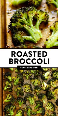 The BEST roasted broccoli recipe! Easy to make perfectly tender and crispy and c. The BEST roasted broccoli recipe! Easy to make perfectly tender and crispy and crazy delicious. Fun Easy Recipes, Healthy Recipes, Vegetarian Recipes, Easy Meals, Vegan Vegetarian, Whole30 Recipes, Healthy Meals, How To Cook Broccoli, Vegetarian