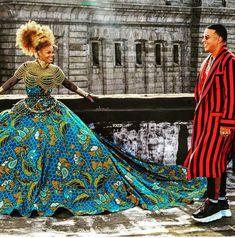 Claude Kameni of luxury haute Ankara Red-Carpet dresses African Prom Dresses, Ankara Gowns, Latest African Fashion Dresses, African Dress, African Style, African Inspired Fashion, Africa Fashion, Queens Wedding, Afro Style