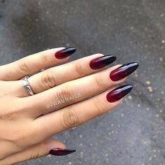 red 42 Charming red Nail Art Designs To Try This summer nails; 42 Charming red Nail Art Designs To Try This summer nails; Red Ombre Nails, Red Acrylic Nails, Red Nail Art, Stiletto Nail Art, Red Art, Black Art, Red Black Nails, Deep Red Nails, Coffin Nails
