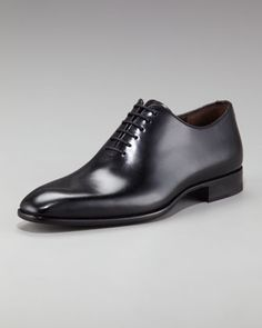Leather Lace-Up Oxford by Bergdorf Goodman at Bergdorf Goodman.